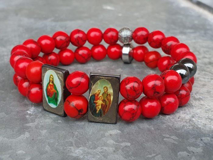 Religieus dubbel armband